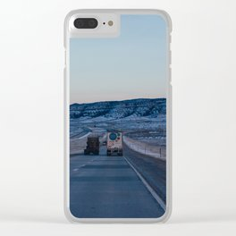 Sunset Highway - Casper, WY Clear iPhone Case