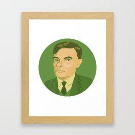 Queer Portrait - Alan Turing Framed Art Print