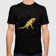 Golden T.Rex Pattern MEDIUM Mens Fitted Tee Black