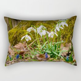 Snowdrops in march Rectangular Pillow