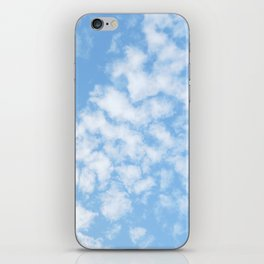 Summer Sky with fluffy clouds iPhone Skin