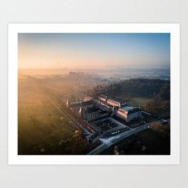 Alden Biesen Castle Landscape (aerial shot) Art Print