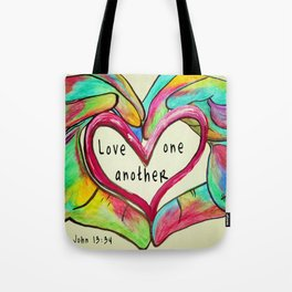 Love One Another John 13:34 Tote Bag
