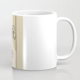 Embroidered Flower Illustration Coffee Mug