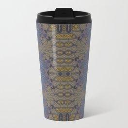 GoldBlue Mandalic Pattern 1 Travel Mug