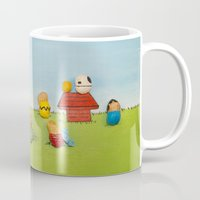 peanuts Mugs featuring Real Peanuts by Phil Jones