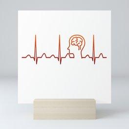 Neurologist Heartbeat Mini Art Print