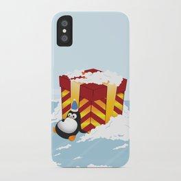 Greedy penguin iPhone Case
