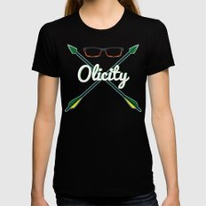 Olicity Shipper Black Womens Fitted Tee X-LARGE