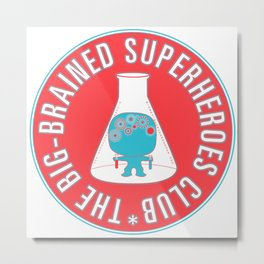 The Big-Brained Superheroes Club Metal Print
