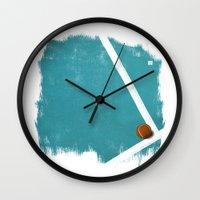 tennis Wall Clocks featuring Tennis by Matt Irving