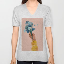 The Floral Feeling Unisex V-Neck