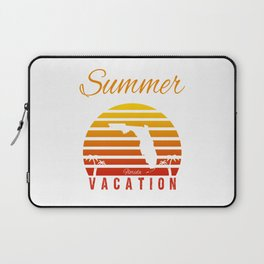 Summer Vacation Florida Miami Beach Holiday Sunset Retro Vintage Laptop Sleeve