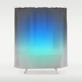 Blue to Aqua Gradient Focus Shower Curtain