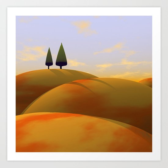 Toscana One (part of diptych) Art Print