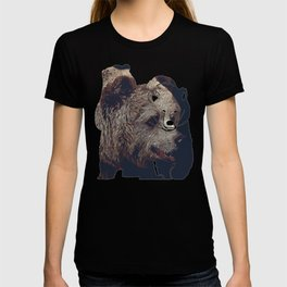 kodiak brown bear vector art dark T-shirt
