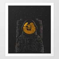 dark side of the moon Art Prints featuring Dark side of the moon by Rodrigo Ferreira
