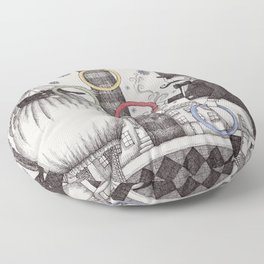 Winter Circus Floor Pillow