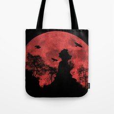 Red moon rock Tote Bag