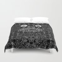 ouija Duvet Covers featuring OUIJA by DIVIDUS