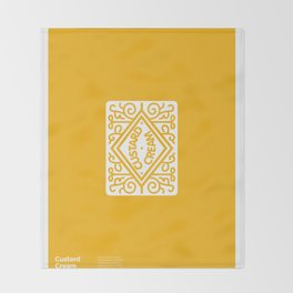 """Custard Cream"" Biscuit poster Throw Blanket"