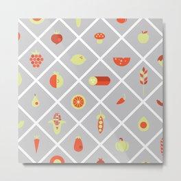 food. Metal Print