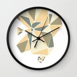 Geometric Orchid Wall Clock
