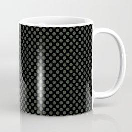 Black and Duffel Bag Polka Dots Coffee Mug
