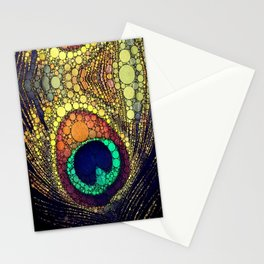 Art Deco Peacock  Stationery Cards