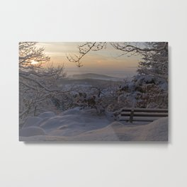 Winter sunset in the Black Forest Metal Print