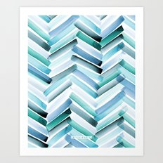Cycladic Chevron Art Print