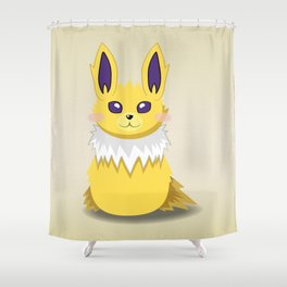 Evolution Bobbles - Jolteon Shower Curtain