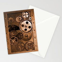 Steam Punk Gears Stationery Cards