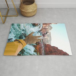Falling in the River-Surreal Desert-Southwest Vibes Rug