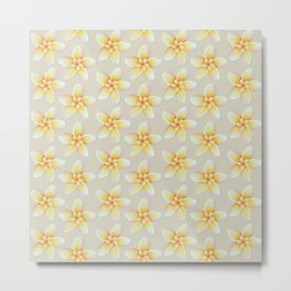 Yellow Flower, Floral Pattern, Yellow Blossom Metal Print