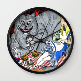 Alice in Picnic land Wall Clock
