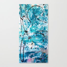 Winter storm Canvas Print