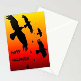 Happy Halloween Murder of Crows  Stationery Cards
