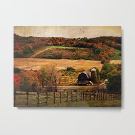 Farm Country Autumn Metal Print