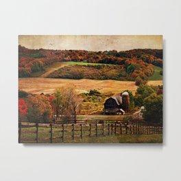 Farm Country Autumn Metal Print
