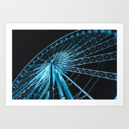 The Sky Wheel in Niagara Falls Art Print