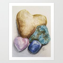 Rock Steady Heart Art Print
