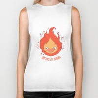 calcifer Biker Tanks featuring She Likes My Spark! by princefox
