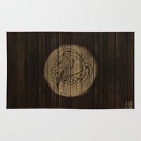 skyrim Area & Throw Rugs featuring Shield's of Skyrim - Whiterun by VineDesign