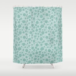 Pebbles in the sea Shower Curtain