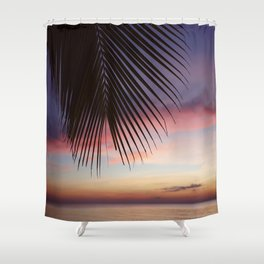 Paradise Palm Sunset Shower Curtain