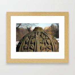 Carving Framed Art Print