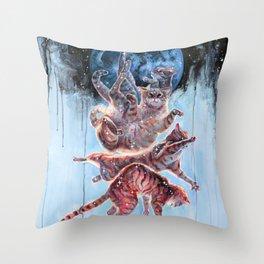 Felinoid Fall Throw Pillow
