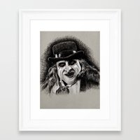 pen Framed Art Prints featuring Pen by chadizms