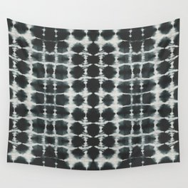 Black Shibori Wall Tapestry